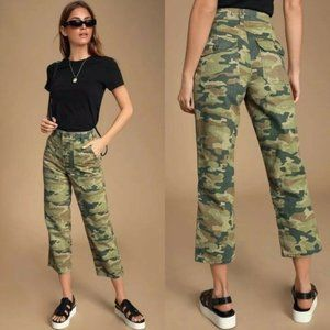 NWT Free People Remy Camo Pants $98 Cropped
